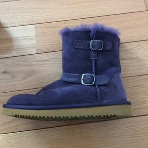 Sheepskin ugg like purple winter boots Sz 2