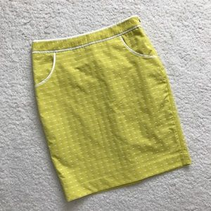 The Limited Dresses & Skirts - The Limited Yellow Polka Dot Pencil Skirt