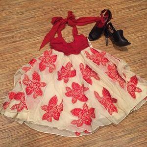 *LAST CHANCE*  Alice + Olivia Cascade Halter Dress