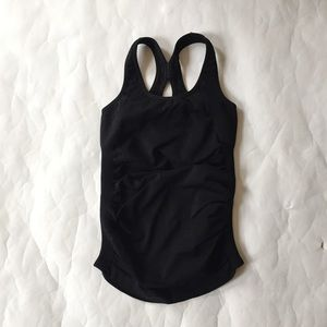 Nux Tops - NUX Black compression Tank with Built In Bra