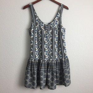 Floral Geo Print Dress