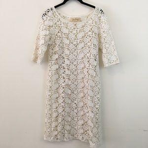 Lilly Aldridge x Velvet White Crochet Midi Dress