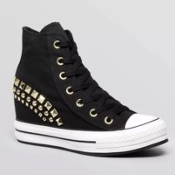 7a23451d4997 Converse Shoes - Converse all star wedge sneakers black 5 Studded