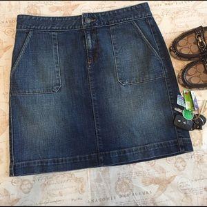 Ann Taylor Loft Dresses & Skirts - Ann Taylor LOFT Patch Pocket Mini Denim Skirt