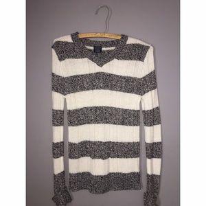 Other - Girls Black and White Stripe V-Neck Sz XL 14-16