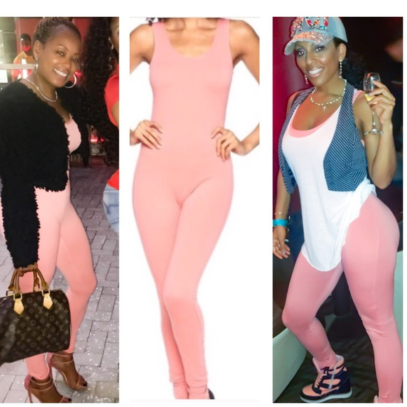 d513d8bd3d 🚨LAST🚨Peachy Pink Catsuit Romper Jumper Jumpsuit