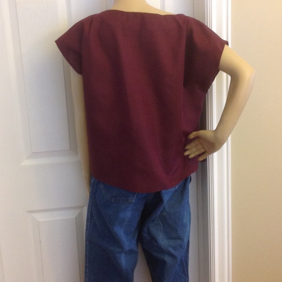Tops - Burgundy  Top Shell