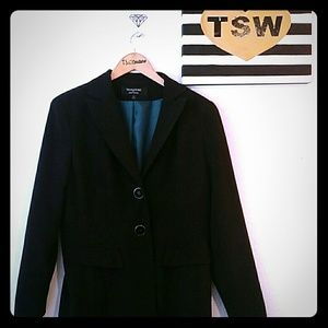 "Larry Levine Jackets & Blazers - Long 33"" black jacket"