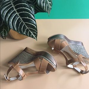Shoes - Brown plantforms.