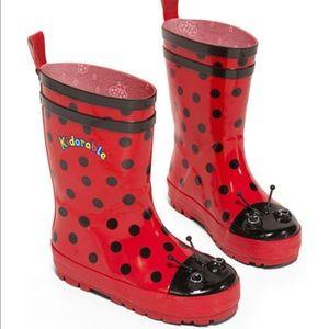 Kidorable Other - Kidorable Ladybug Rain boots Size 2