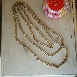 Deb Jewelry - 3 layer chunky chain necklace