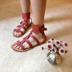 APC Shoes - A.P.C Madras Gladiator Flat Sandals