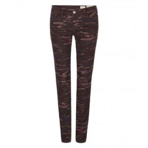 Allsaints Womens Ashby Patterned Low Rise Skinny