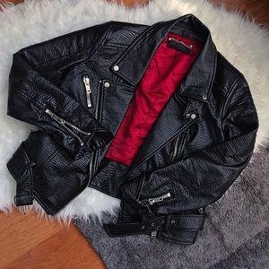 ABS Allen Schwartz Leather Jacket