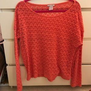 Katie K Tops - 🍑 peach crochet top!