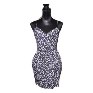 Charlie Jade Blue Leopard Mini Dress