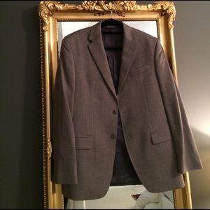 Merona Other - Men's grey herringbone wool 3 piece suit.