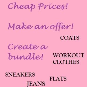 Clothes! Sneakers! Flats! Heels! Tank tops! Jeans!