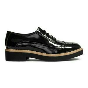 Divided Shoes - Patent Oxfords
