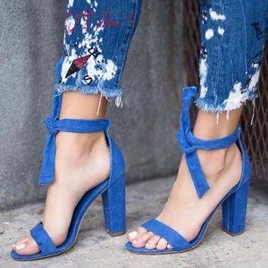 ShuShop Shoes - Denim Block Heels