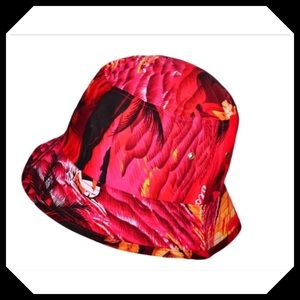 Red Hawaii Bucket Hat