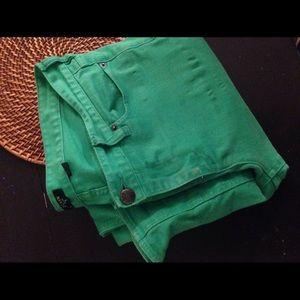 J Crew Matchstick Jeans Kelly Green