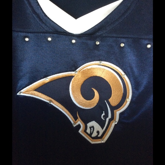 Los Angeles Rams NFL Bling football jersey womens e1e0b461b4