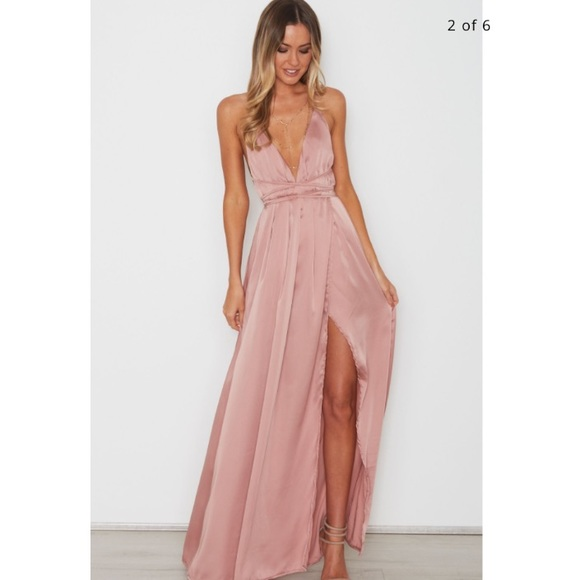 d59b30f0d6b2 White Fox Dresses | Aus Brand Blush Pink Akela Maxi Dress | Poshmark