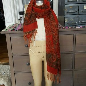 70's style vintage woven scarf