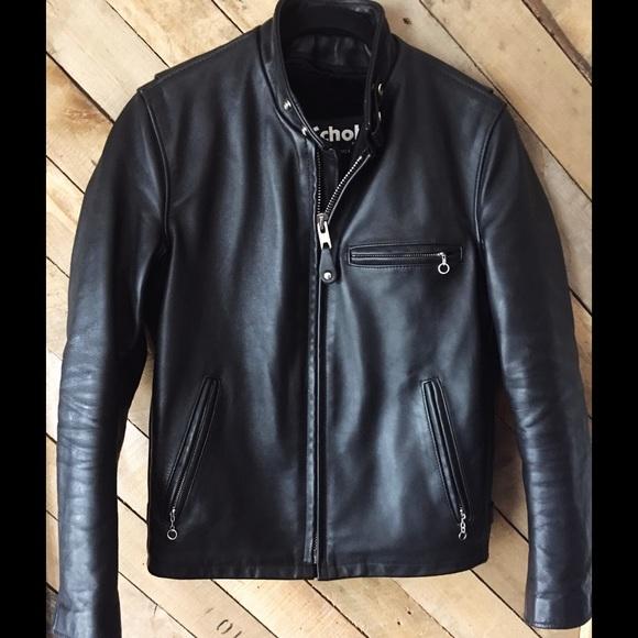 feeef8d72 Schott Single Rider Leather Motorcycle Jacket