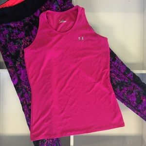 Under Armour Tops - Under Armour Pink Heat Gear Tank