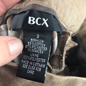 BCX Shorts - BCX Bermuda dress shorts