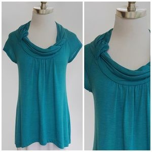 Anthropologie Tops - Anthropologie Deletta / Super Soft Turquoise