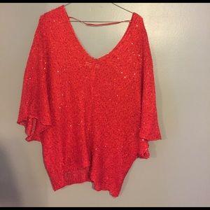 umgee Tops - Umgee red sequin top
