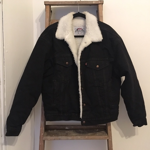 Levi's Jackets & Coats | Levis Denim Shearling Jacket | Poshmark