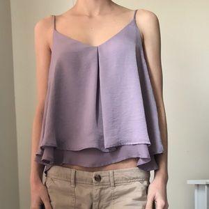 Valette Tops - Purple Dressy Camisole