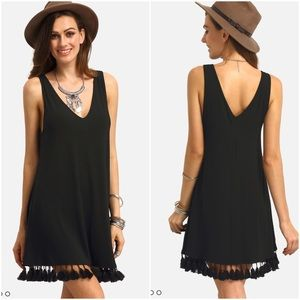 Dresses & Skirts - 🌴 Cute Black Tassel Dress 🌴
