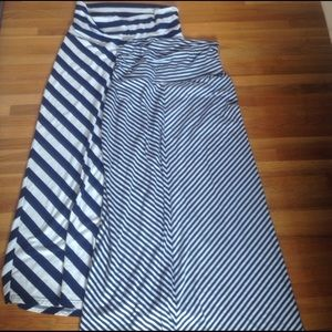 Lot of 2 maternity maxi skirts