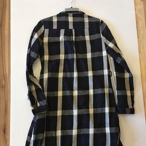 Flannel t-shirt dress - new with tags