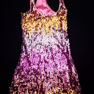 Pink & Gold sequin bodycon dress
