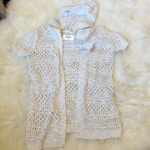 Justice Other - Crochet short sleeve cardigan