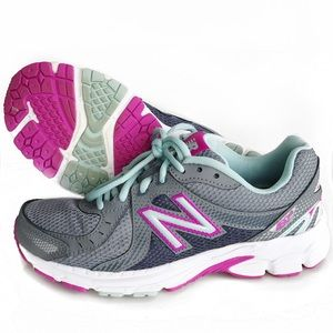 New Balance Shoes - New Balance Running 450v3 Gray and Pink Sneakers