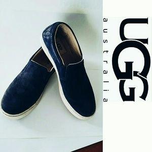 UGG Shoes - UGG blue  loafer shoes! Size 7