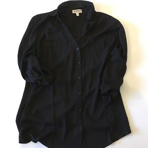 Express black blouse - never worn