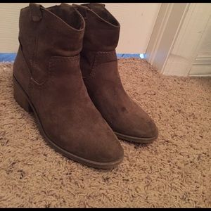 Merona Taupe Ankle Boots. Sz 8
