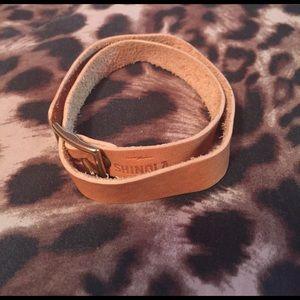 Shinola Jewelry - Shinola double strap leather bracelet.
