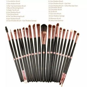 Other - 20 makeup brushes professional set