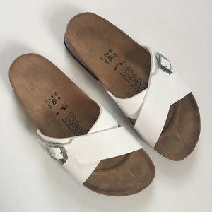 Birkenstock Shoes - Birkenstock Birki's White Santosa Sandal