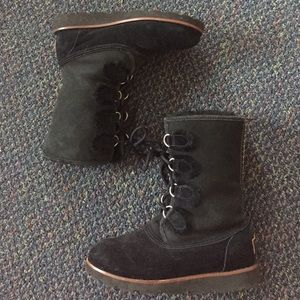 Ugg Lace-Up Black Boots!