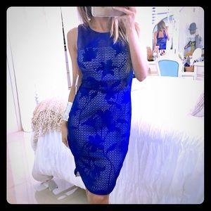 Bisou Bisou Dresses & Skirts - NWT Gorgeous Blue Cutout Bodycon Dress